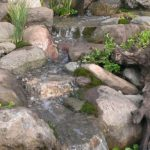 Stream completed at Bergen Water GArdens