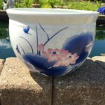 Chinese Bowl lotus Pot- Blue Lotus (H)