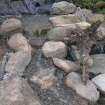 Stream under construction at Bergen Water Gardens