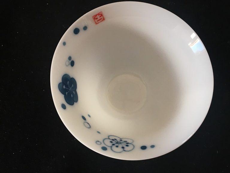 Chinese Tea Set with Plum Flower Design