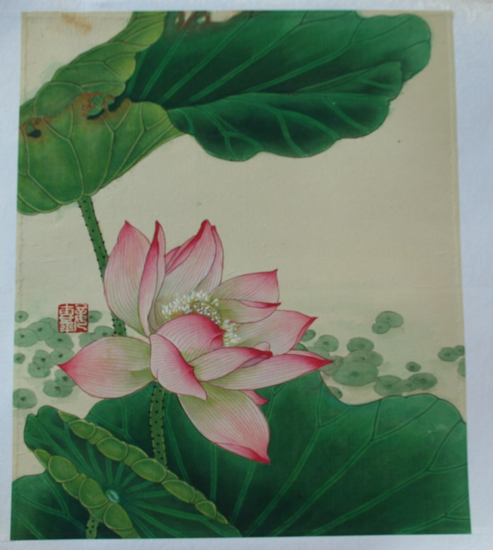 Blooming Lotus Chinese Hand Painted