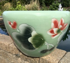 Chinese lotus Pot- Green Lotus (M-3)