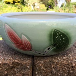 Chinese Bowl Lotus Pot- Green
