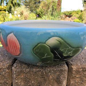Chinese Bowl lotus Pot- Blue