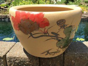 Chinese lotus Pot- Red Lotus (M-8)