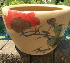Chinese lotus Pot- Red Lotus (M-8)