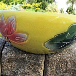 Chinese Bowl lotus Pot- Yellow