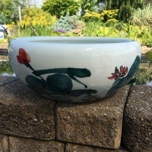 Chinese Bowl lotus Pot- Green Lotus