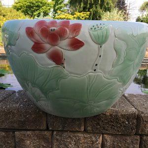 Chinese lotus Pot- Light Green Lotus (M-9)