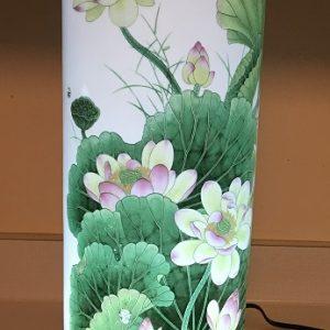 Porcelain Lamp Lotus Chinese Carp
