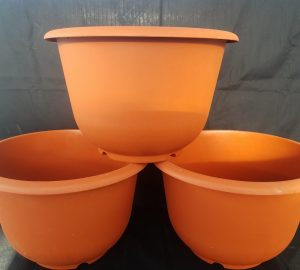 Trio of Medium Plastic Pot
