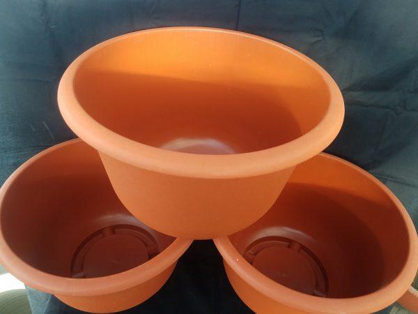 Trio of Medium Plastic Pot
