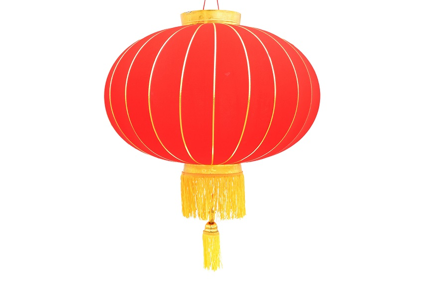 Colorful Lantern in Qinhuai is a brilliant, red lotus with a yellow center, similar to the Chinese lantern